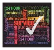 Service de qualité image libre de droits