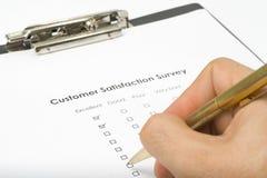 service de questionnaire de qualité de liste de contrôle Photos stock