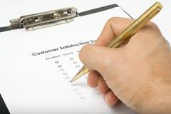 service de questionnaire de qualité de liste de contrôle Image libre de droits