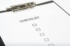 service de questionnaire de qualité de liste de contrôle Images stock