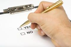 service de questionnaire de qualité de liste de contrôle Images libres de droits