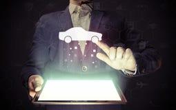 Service de recherche de voiture image stock