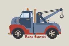 Service de route de camion de remorquage Images libres de droits