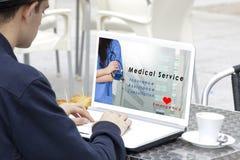 Service de santé médical de consultation photos stock
