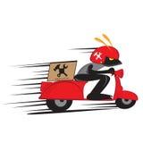 Service de scooter Photographie stock libre de droits
