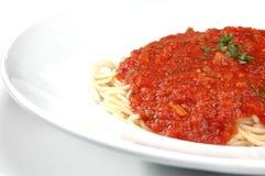 Service de spaghetti Photos stock