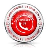 Service de support à plein temps service de 24/7 heure Photographie stock
