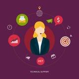 Service de support technique de client illustration stock