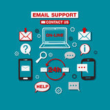 Service de support technique en ligne d'email Images libres de droits
