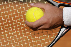 Service de tennis Photo libre de droits