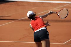 Service de tennis Photo libre de droits