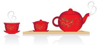 Service de thé chinois Images stock
