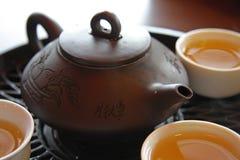 Service de thé chinois Image libre de droits