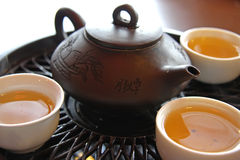 Service de thé chinois Photographie stock libre de droits