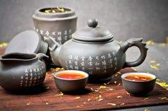 Service de thé de la Chine image libre de droits
