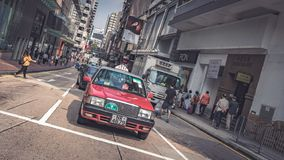 Service de transport de taxi en Hong Kong photo stock