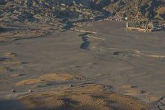 Service des Autos 4x4 für Touristen auf Wüste an Bromo-Berg Java, Indonesien Lizenzfreies Stockfoto