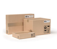 Service des paquets Image stock
