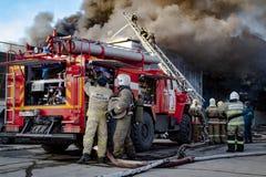 Service des urgences russe dans l'action Photos libres de droits