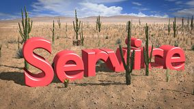 Service desert on a hot sunny day Royalty Free Stock Images