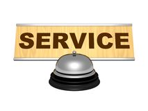 Service desk chrome vintage retro bell Stock Photos
