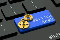 Service Desk concept on keyboard button Stock Photography