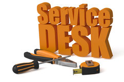 Service Desk service and repair concept Stock Images