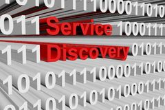 Service discovery. In a binary code 3D illustration Stock Image