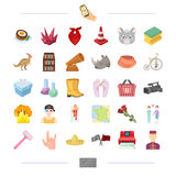 Service, education, cinema and other web icon in cartoon style.travel, sport, cleaning icons in set collection. Stock Images