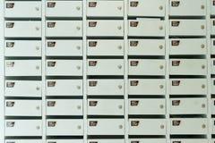 Service en bois blanc de boîte aux lettres photographie stock libre de droits