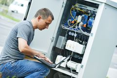 Service engineer adjuster Royalty Free Stock Images