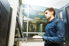 Service engineer in server room Stock Image