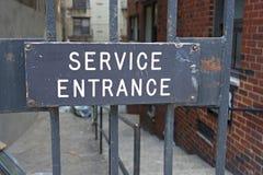 Service Entrance Royalty Free Stock Photos