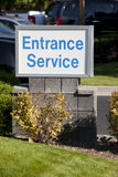 Service Entrance Sign Royalty Free Stock Images