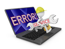 Service error Stock Photography