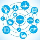 Service et concept automatiques de garage Images libres de droits