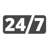 Service et support pour des clients, 24 heures Images libres de droits