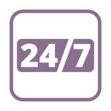 Service et support pour des clients, 24 heures Image stock
