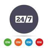 Service et support pour des clients 24 heures Photo libre de droits