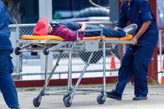 Service et urgence de délivrance médicaux photos stock