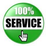 service för 100 knapp Arkivbild