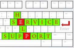 service för begreppshjälpservice Arkivfoto