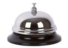 service för cirkel för alarmklocka isolerad Fotografering för Bildbyråer