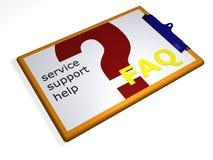 service för clipboard 3d Royaltyfria Bilder