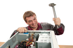 service för datortekniker Royaltyfri Bild