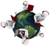 service för globalt nätverk för kund Royaltyfri Fotografi