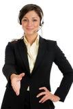 service för operatör för affärskund arkivfoton