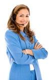 service för operatör för affärskund Fotografering för Bildbyråer