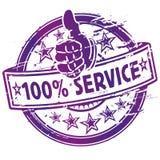Service för Rubber stämpel 100% Arkivbilder