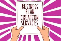 Service för skapelse för plan för affär för textteckenvisning Begreppsmässigt foto som betalar för att professionell ska skapa pa stock illustrationer